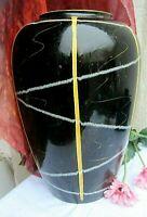 *große dekorative tonvase bodenvase true vintage s+g foreign -selten!