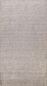Geometric Moroccan Multi Level Loop Pile Oriental Area Rug Hand-Knotted Wool 5x8