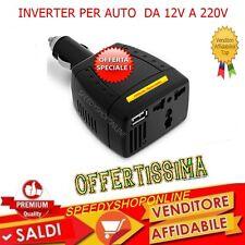 TRASFORMATORE INVERTER DI CORRENTE 150W per AUTO USB CAMPER BARCA Dc 12V AC 220V