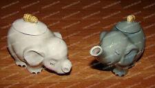 ELEPHANT, Peanuts Cream & Sugar Dish Set (MWAH by Westland, 93493) Ceramic