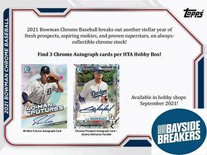 New York Mets 2021 Bowman Chrome HTA Baseball Full Case (12 Box) Break #1