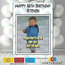 Personalised Photo Birthday Card Any Age • A5 Glossy Greetings Card