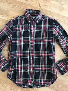 Crewcuts Boys Plaid Shirt 10 years Button Up