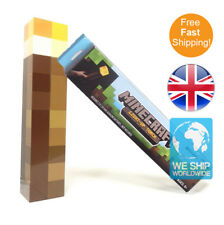 NEW Minecraft Torch Light Up Mountable Wall Night Lamp Think Geek P Toy for Kids