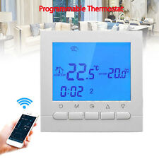 Wireless Smart Digital Programmable Wi-Fi Thermostat for Heating System White