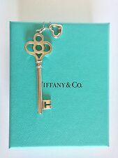 Tiffany & Co. Crown key & Mini Open Heart Necklace