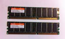 LOT OF 2 HYNIX 256MB (512MB) PC2700 333MHz DDR Desktop RAM Memory