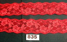 4.5m  x 5cm  RED patterned Lace trim [835]  Haberdashery item