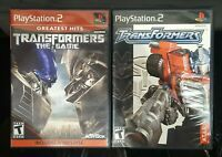 Transformers & Transformers The Game PS2 (Playstation 2) Tested & Working READ !