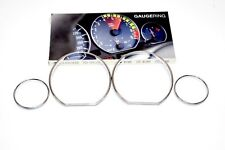 BMW E36 318i 325i 328i Chrome Instrument Cluster Speedometer Gauge Rings