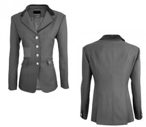 Equicomfort giacca equitazione gara concorso donna nera colletto velluto tg. 44