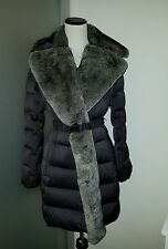 $798.00 Diane von Furstenberg DVF Genuine Rabbit Fur Down Coat Jacket Medium