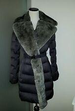 $798.00 Diane von Furstenberg DVF Genuine Rabbit Fur Down Coat Jacket Large