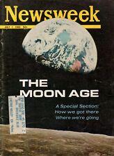 1969 Newsweek July 7 - The Moon Age; Judy Garland Funeral; Ferrari's passion