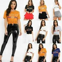 Women Ladies Celeb Designer Inspired Casual Loose Top Ladies Slogan T-Shirt