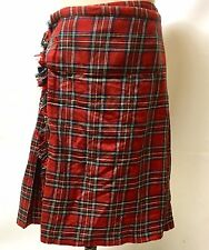 SDL Authentic Scotland Mens Red Tartan  Men's Full Size Kilt Size 36/38 Inches