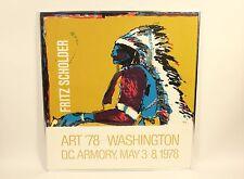 Vtg 1978 Fritz Scholder Washington DC Armory Native American Indian Art Print