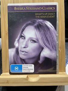 What's Up Doc / The Main Event region 4 DVD (2 discs) Barbara Streisand Rare