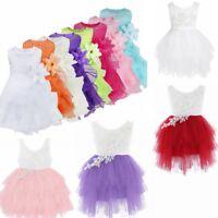 Flower Girl Princess Dress Kid Baby Birthday Party Wedding Pageant Dresses