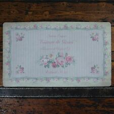 Shabby Chic French Vintage Floral Rubber Door Mat Pink Stripe Essence de Roses