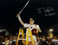 Matt Leinart Signed USC Trojans 16x20 Holding Sword Photo W/ Heisman- JSA W Auth