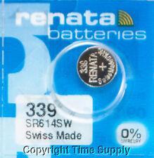 1 Pc 339 Renata Watch Batteries SR614SW FREE SHIP  0% MERCURY