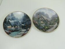 033- Pair Of Thomas Kinkade Collector Plates