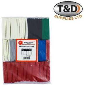 200 x Timco flat plastic mixed packers window wedges & glazing packer spacers