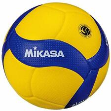 MIKASA V400W Volleyball Competition Ball Size:4 Yellow / Blue w/ Tracking NEW
