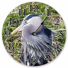 "10.5"" GREAT BLUE HERON BIRD CLOCK - Large 10.5"" Wall Clock - Home Décor - 3121"