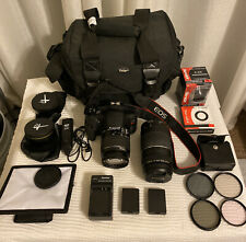 Canon EOS Rebel T6 - 18.0MP Digital SLR Camera w/ 18-55 mm 75-300mm + Extras