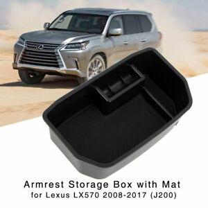 Car Armrest Storage Box for Lexus LX570 2008-2017 Central Console Organizer Tray