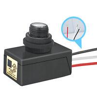 Photocell Dusk to Dawn Flush Mount Button Photo Control Eye 120V-277V Waterproof