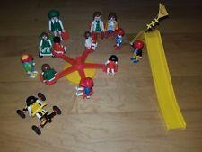 Playmobil Playground Equipment Merry Go Round Slide Vintage & New 12 Figures