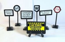 Plastic Signs Compatible With Thomas Railway Trains Engines and Brio Track