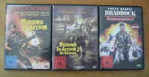 Missing in Action 1-3, mit Chuck Norris, 3 DVDs, uncut Versionen!