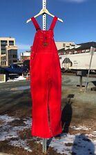 """Vintage 70s Washington Dee Cee Sanforized red overalls size wast 34"""" inseam 27"""""""