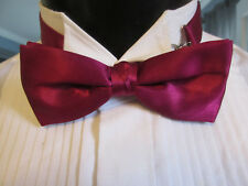 VINTAGE CRANBERRY BOW TIE BANDED ME2