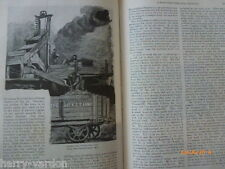 Coal Mining Pits Mines Colliery CoalfieldOld Antique Illustrated Article 1889
