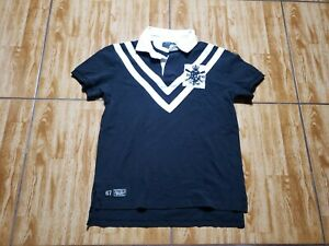Ralph Lauren Short Sleeve Polo Shirt Adult Small Black Casual Rugby Mens