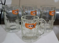 "Classic A&W Root Beer Mugs - Three 6"" and One 4.5"""