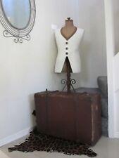 Large Vintage Antique Tan Suitcase