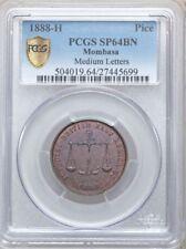 1888 H  MOMBASA   PICE PCGS SP64BN  (SPECIMEN STRIKE)