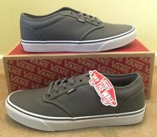 NEW Mens Vans Atwood Canvas Trainers Sneakers Pumps Grey Casual Retro UK 10.5