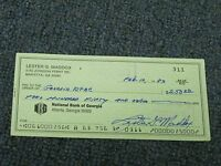 Lester Maddox  Signed Autographed Cancelled Check