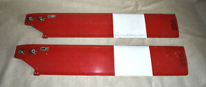 Pair of Bell Helicopter 206 Tail Rotor Rudder Blades P/N 206-010-750-7