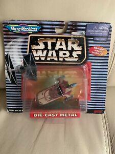 STAR WARS MACHINES DIE CAST  LANDSPEEDER ON BUBBLE CARD 1997
