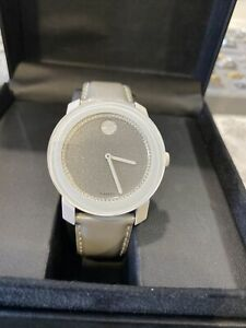 MOVADO 3600237 BOLD SILVER-TONE GLITTER DIAL WOMEN'S WATCH Preowned