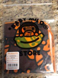 New Baby Milo Bape Wash Monkey Print Washcloth