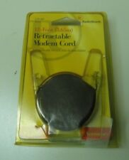 12-Foot (3.65m) Retractable Modem Cord RadioShack 279-461 Black NEW